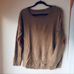 Gap Sweater with Felt Heart Elbows